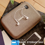 NaSaDen Travel Digital Accessories Storage Bag [Coffee Brown] / Travel Accessory - NaSaDen