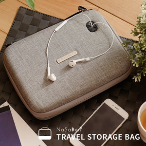 NaSaDen Travel Digital Accessories Storage Bag [Grey] / Travel Accessory - NaSaDen