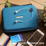 NaSaDen Travel Digital Accessories Storage Bag [Peacock blue] / Travel Accessory - NaSaDen