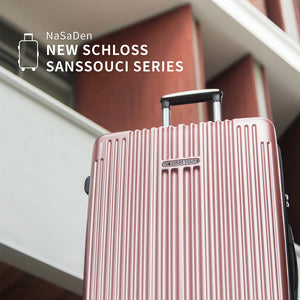 "NaSaDen New Schloss Sanssouci Series [Rose Gold] 26"" Zipper Luggage [1 year warranty] - NaSaDen"