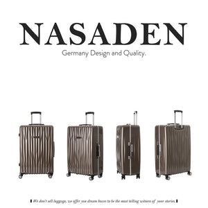 "NaSaDen Heidelberg Series [All colors] Aluminium Frame 28"" Luggage [1 year warranty] - NaSaDen"