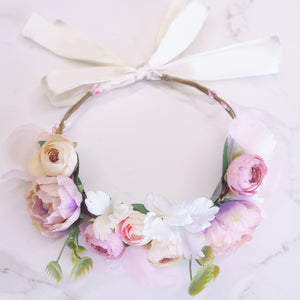 Pink Blooms Flower Crown - Styleper