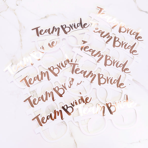 Team Bride Paper Glasses - Styleper