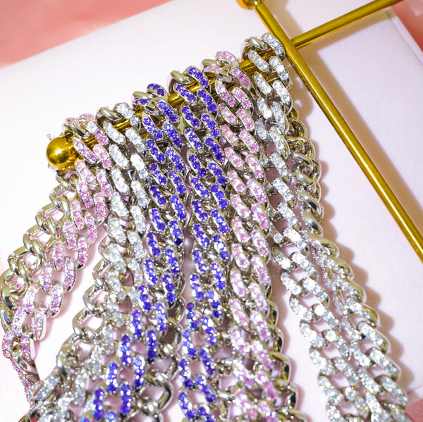 Lavender Grace Cuban Link Necklace - Styleper