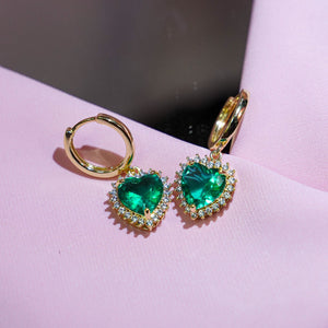 Emerald Self-Love Earrings
