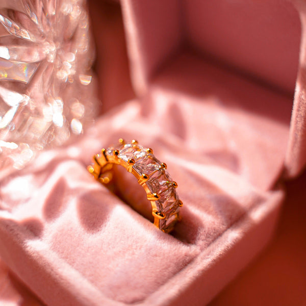 Ice Ice Baby Gold Ring