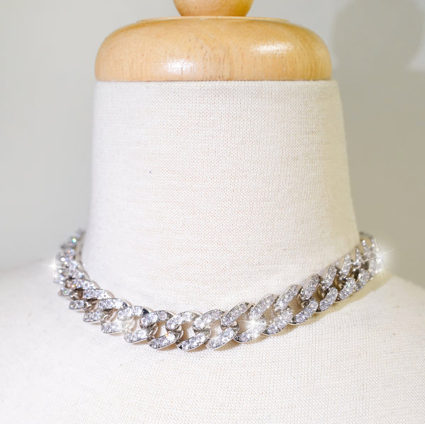 Icy White Cuban Link Necklace - Styleper