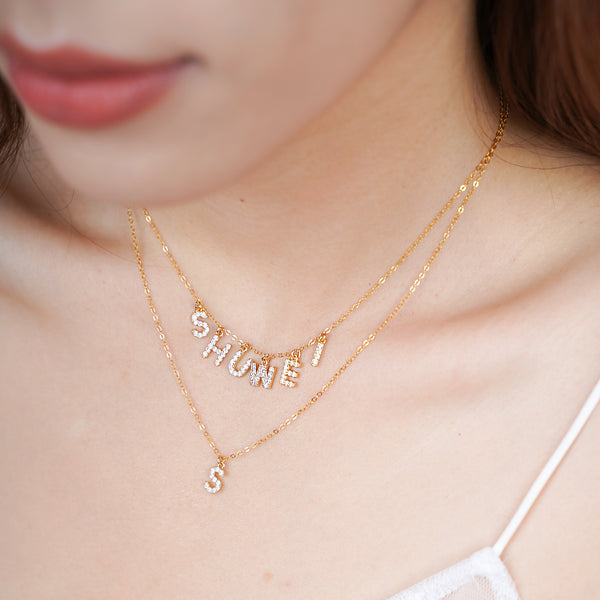 Gold Plated Custom Name Necklace - Styleper