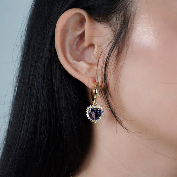 Violet Self-Love Earrings