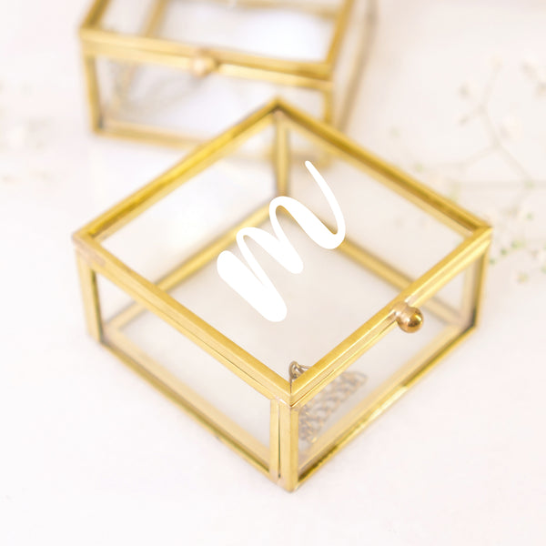 Personalized Glass Jewelry Box - Styleper