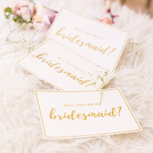 Will You Be My Bridesmaid Gold Foil Proposal Card - Styleper