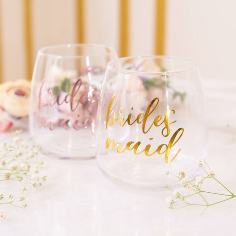 Bridesmaid Stemless Glass - Styleper
