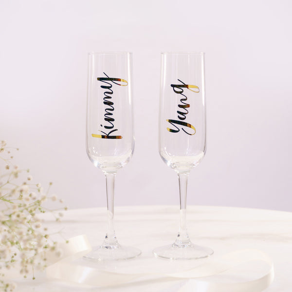 Personalized Champagne Glass - Styleper