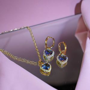 Buy 1 Free 1: Violet Self-Love Earrings & Necklace Set