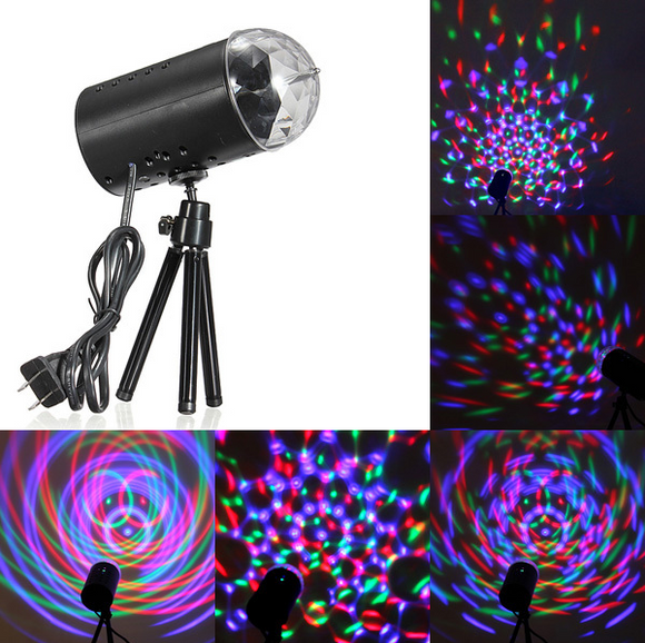 New RGB 3W Crystal Magic Ball Laser Stage Lighting For Party Disco DJ Bar Bulb Lighting Show