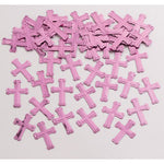 Pink Crosses Shaped Confetti