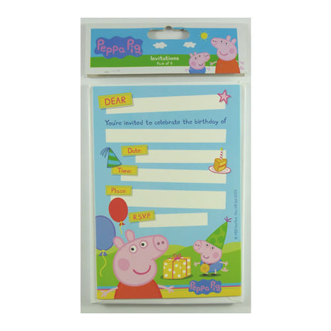 Peppa Pig Invitations - 8pk
