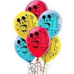 Mickey 1st Birthday Latex Balloons Fun To Be One - 15pk