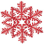 Red Glitter Snowflake Hanging Decoration