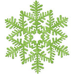 Green Glitter Snowflake Hanging Decoration