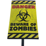 Zombie Yard Sign - Danger Beware of Zombies