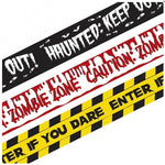 Halloween Fright Tape Banners - 3pk