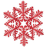 Glitter Snowflake Red Hanging Decoration