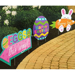 Easter Sidewalk Signs Assorted Designs - 3pk