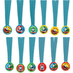 Thomas & Friends Award Medals Ribbons Favors - 12pk