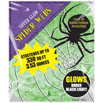 Spider Web Green - Glows Under Black Light
