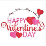Happy Valentine's Day Glitter Sign & Wire Hanger