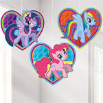 My Little Pony Honeycomb Hanging Decorations - 3pk