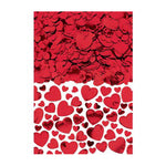 Confetti Hearts Red Assorted Sizes Value Pack