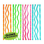 Swizzle Sticks Cocktail Stirrers Neon Assorted - 24pk