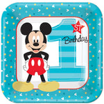 Mickey 1st Birthday Lunch Plates Fun To Be One - 8pk