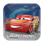 Cars 3 Dinner Plates Square 23cm - 8pk