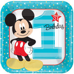 Mickey 1st Birthday Dinner Plates Fun To Be One - 8pk