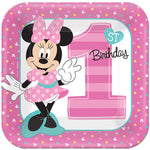 Minnie 1st Birthday Dinner Plates Fun To Be One - 8pk