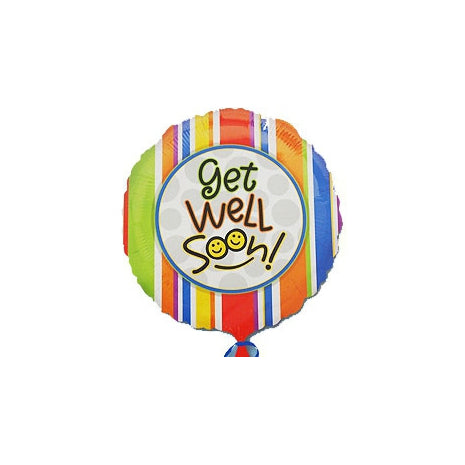 10cm Get Well Soon Smiles (Inflated) Foil Balloon