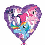 45cm My Little Pony Characters Heart Foil Balloon