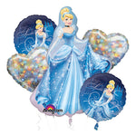 Cinderella Bouquet 1 x Super Shape & 4 x 45cm - 5pk
