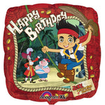 45cm Jake & the Neverlands Pirates, Happy Birthday Foil Balloon
