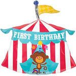 Shape Fisher Price Circus Tent 1st Birthday Foil Balloon