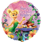 45cm Tinker Bell Sweet Birthday Wishes Foil Balloon
