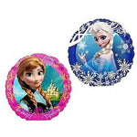 22cm Disney Frozen (Flat) (2 sided design Elsa and Anna) Foil Balloon