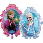 Shape Frozen (2 sided design Elsa and Anna) Foil Balloon