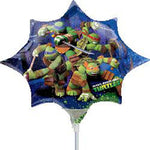 Mini Shape TMNT (Inflated) Foil Balloon
