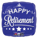 Happy Retirement Square 45cm Balloon