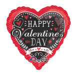 Chalkboard Happy Valentine's Day 45cm Balloon