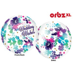 Shape Balloon - Orbz Wedding Wishes Watercolour